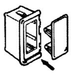 Sierra Montageframe voor schakelaar (links of rechts)
