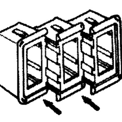 Sierra Montageframe voor schakelaar (midden)