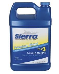 Sierra Motorolie Blue Premium TC3-W3  3.78l  voor outboards 2-takt