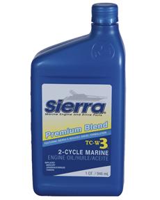 Sierra Motorolie Blue Premium TC3-W3  946ml  voor outboards 2-takt