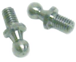 Sierra Nautalift  RVS 10mm kogelfittings met uitwendige draad (per paar)