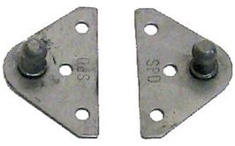 Sierra Nautalift  RVS vlakke houder met 10mm-kogelaansluiting  breedte 2 25 (57mm) (2 per kit)