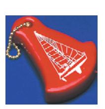 Sleuteldrijver Zeilboot kleur blauw