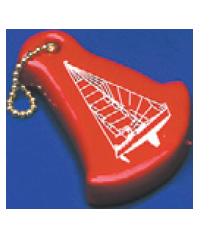 Sleuteldrijver Zeilboot kleur oranje