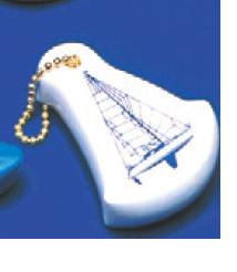 Sleuteldrijver Zeilboot kleur wit