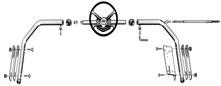 Stuurbeugel Telescopisch  met Stuurwiel  1300-1600mm