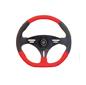 Stuurwiel Portofino kunstleer 3-spaaks Rood  355mm
