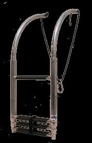 Telescopische RVS 4-traps zwemtrap voor opblaasboot