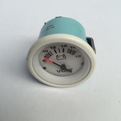 Voltmeter 2 12V Teleflex Lido White