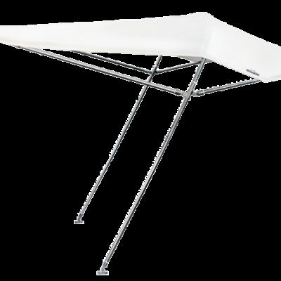 Zonnetent type Aria 230 x 235 x 122cm; wit; buisØ 25mm