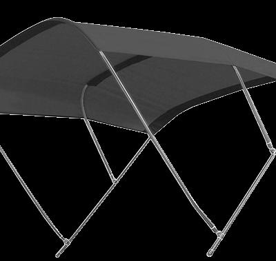 Zonnetent type Biminox 200 x 200 x 140cm;  zwart; RVS-Beugels
