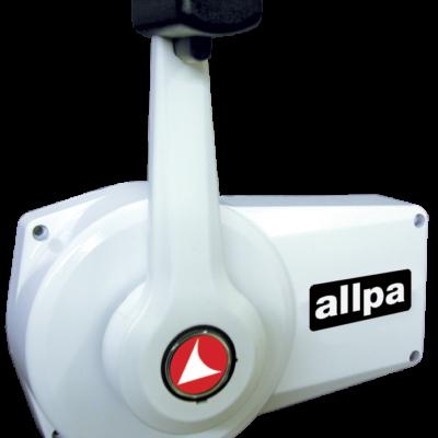 allpa Éénhandel Motorbediening A89 wit zijmontage met interlock