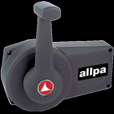 allpa Éénhandel Motorbediening A90 zwart zijmontage met interlock