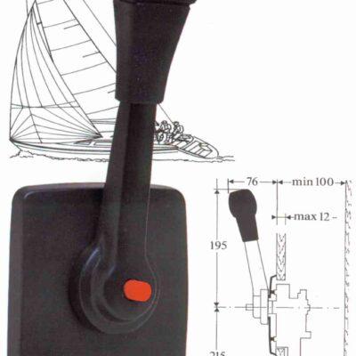 allpa Éénhandel motorbediening B80/S  zijmontage  speciaal model voor zeilboten