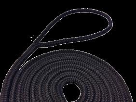 allpa 16-Voudig gevlochten fenderlijnen met handgemaakte oogsplits  10mm zwart  L=3Mtr