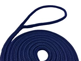 allpa 16-Voudig gevlochten fenderlijnen met handgemaakte oogsplits 6mm blauw  L=2Mtr