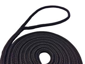 allpa 16-Voudig gevlochten fenderlijnen met handgemaakte oogsplits  8mm zwart  L=2Mtr