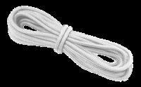 allpa 16-Voudig gevlochten landvast met handgemaakte oogsplits 8mm  wit  L=6 5Mtr