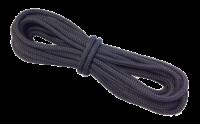 allpa 16-Voudig gevlochten landvast met handgemaakte oogsplits 8mm  zwart  L=6 5Mtr