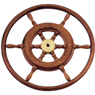 allpa 6-Spaaks stuurwiel type 3B klassiek mahoniehouten stuur  houten hoepel incl. adapter D=600mm