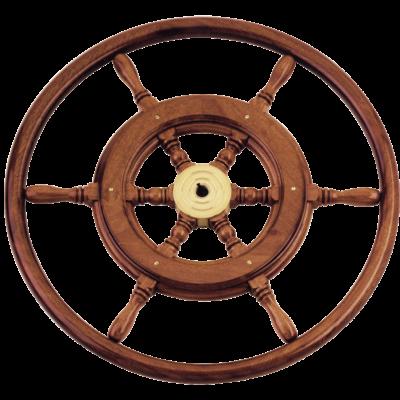 allpa 6-Spaaks stuurwiel type 3B klassiek mahoniehouten stuur  houten hoepel incl. adapter D=700mm