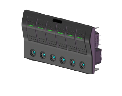 allpa ABS schakelpaneel  auto fuse  12V  6-schakelaars  spatwaterdicht met auto fuse LED indicators