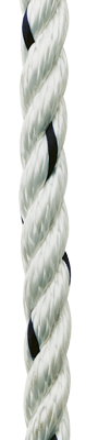 allpa Allcord-1  geslagen polyester  Ø12mm  wit  haspel 200m (breekkracht 2400kg)
