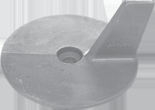 allpa Aluminium Anode Mercury / Mariner / Force / Honda outboard Skeg (OEM 41107ZW1B01)
