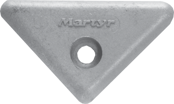 allpa Aluminium Anode Volvo Penta sterndrive  triangle for 290/290DP/SX/DP-X (OEM 872193)
