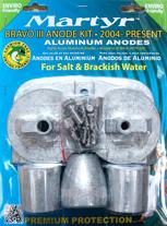 allpa Aluminium Anode kit Bravo 3 ≥2004
