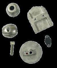 allpa Aluminium Anode kit Navalloy  Alpha-1-Gen I  1983 - 1990