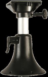 allpa Aluminium Belle verstelbare stoelpoot  H=330-430mm draaibaar met 4-posities  grijs
