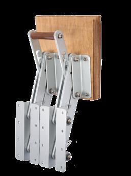 allpa Aluminium Buitenboordmotorstoel klapbaar (max. 50kg) (met dubbel frame)