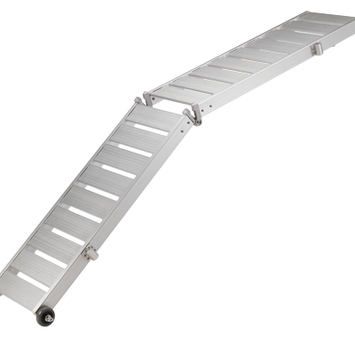 allpa Aluminium Loopplank met wielen & aluminium loopvlak  2-delig  draaggewicht 160kg