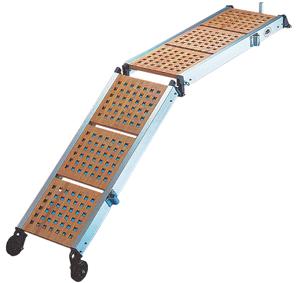 Aluminium loopplanken met houten loopvlak