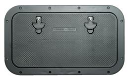 allpa Aluminium Luik  buitenmaat 350x600mm  gatmaat 286x537mm  onbehandeld Aluminium