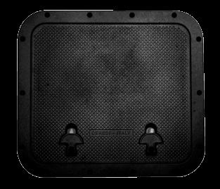 allpa Aluminium Luik  buitenmaat 510x460mm  gatmaat 393x446mm  zwart  poedercoating