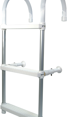 allpa Aluminium Zwemtrap met ophanghaken 4-treden verstelbare afstandhouders L=1160mm buis Ø25mm