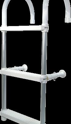 allpa Aluminium Zwemtrap met ophanghaken 5-treden verstelbare afstandhouders L=1450mm buis Ø25mm