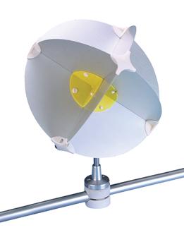 allpa Aluminium houder radarreflector Navy star voor zeerailing Ø22-28mm (D)