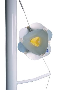 allpa Aluminium houder radarreflector Navy star voor zeilboot (B)