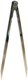 allpa Aluminium kaartpasser  L=180mm  met etui