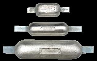 allpa Aluminium lasstrip-anode  390x80x290x40mm (2.20kg)