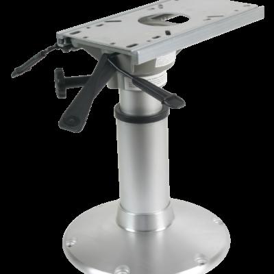 allpa Aluminium mainstay Heavy Duty stoelpoot (360º draaibaar + lock) H=381-508mm  voet Ø305mm