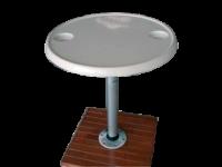 allpa Aluminium opbouwvoet  Ø230mm (voor 069192 / 069492)