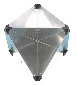 allpa Aluminium radarreflector  opvouwbaar  300x215x215mm  echo-oppervlak: 8m²  470gr