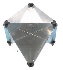 allpa Aluminium radarreflector opvouwbaar 510x340x340mm echo-oppervlak: 12m² 1100gr
