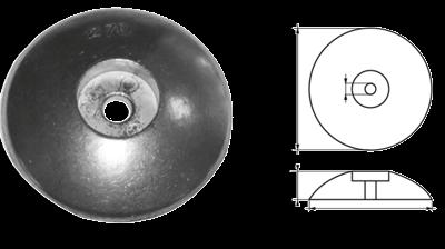 allpa Aluminium ronde roerblad-anode Ø90mm (0 20kg)