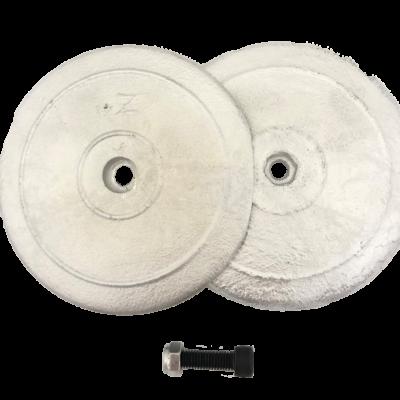 allpa Aluminium ronde roerblad-anode dubbel Ø90mm