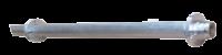 allpa Aluminium schroefaskoker Ø45x35mm  L=1500mm voor Ø25mm schroefas